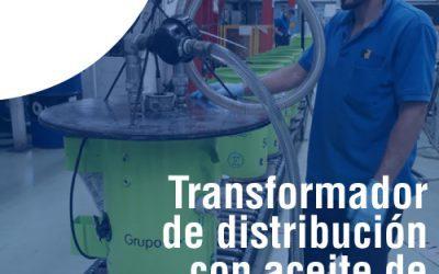 Transformador de distribución que utiliza aceite de origen vegetal